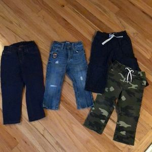 Four pairs of boys sz 18mo pants & jeans
